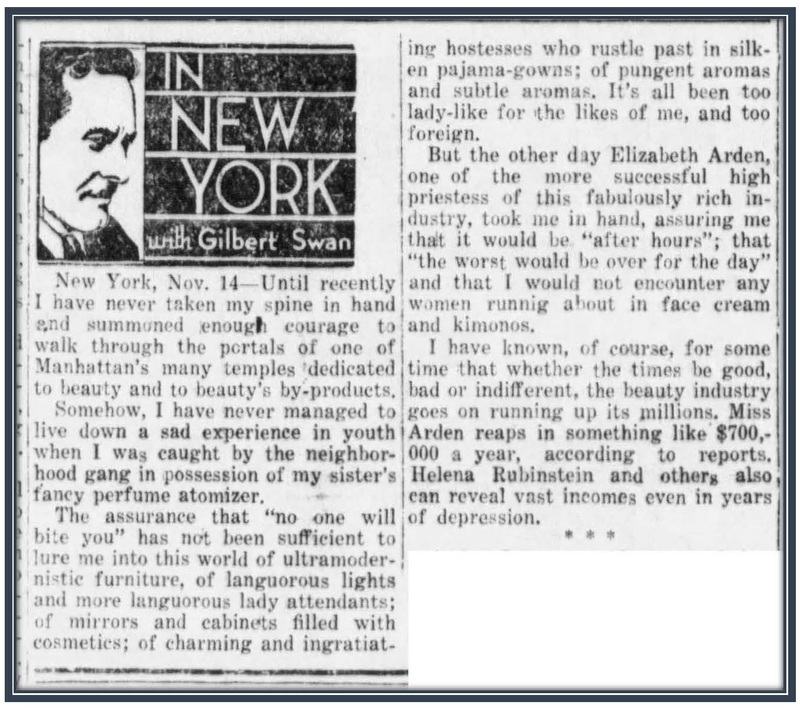 In New York, The Daily Times 1931 Newspaper Article