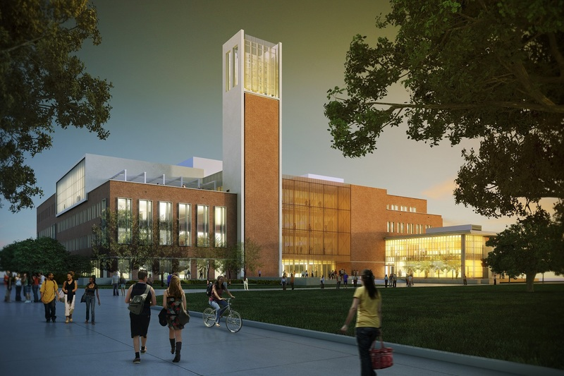 Final rendering of the Patricia R. Guerrieri Academic Commons, July 31, 2014