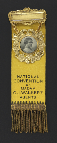 National Convention of Madam C. J. Walker's Agents Badge